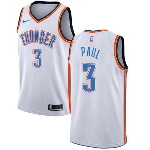 Nike Thunder #3 Chris Paul White NBA Swingman Association Edition Jersey