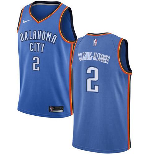 Nike Thunder #2 Shai Gilgeous-Alexander Blue NBA Swingman Icon Edition Jersey