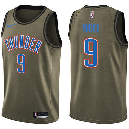 Nike Thunder #9 Nerlens Noel Green NBA Swingman Salute to Service Jersey