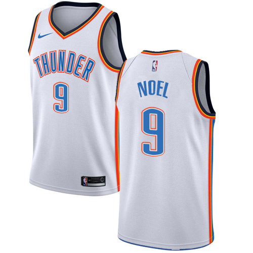 Nike Thunder #9 Nerlens Noel White NBA Swingman Association Edition Jersey