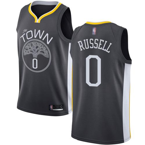 Nike Warriors #0 D'Angelo Russell Black NBA Swingman Statement Edition Jersey