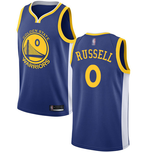Nike Warriors #0 D'Angelo Russell Blue NBA Swingman Icon Edition Jersey