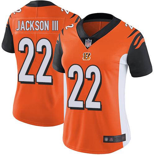Nike Bengals #22 William Jackson III Orange Alternate Women's Stitched NFL Vapor Untouchable Limited Jersey
