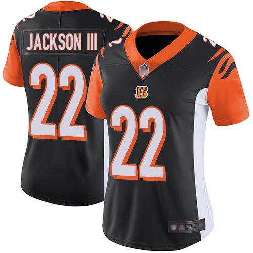 Nike Bengals #22 William Jackson III Black Team Color Women's Stitched NFL Vapor Untouchable Limited Jersey