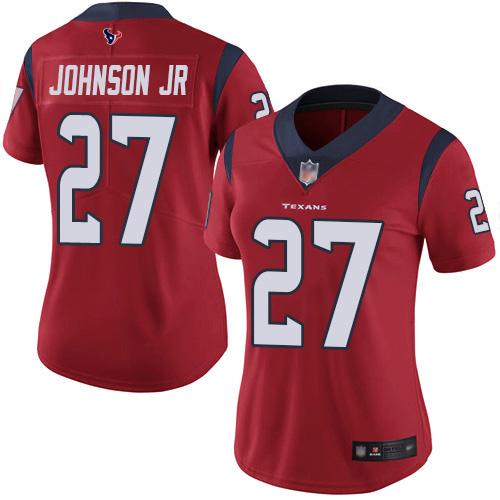 Nike Texans #27 Duke Johnson Jr Red Alternate Women's Stitched NFL Vapor Untouchable Limited Jersey