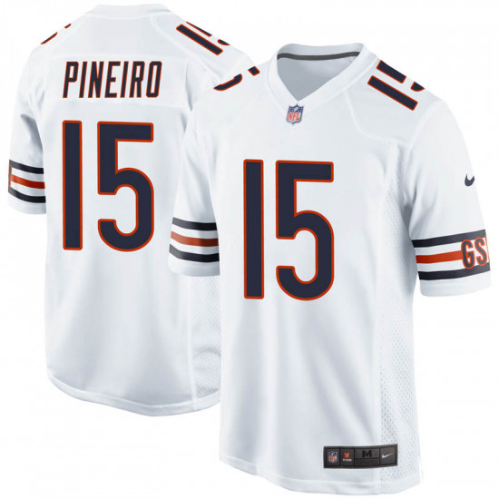 Nike Bears #15 Eddy Pineiro White Mens Stitched NFL Vapor Untouchable Limited Jersey