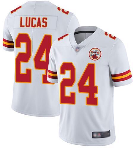 Nike Chiefs 24 Jordan Lucas White Vapor Untouchable Limited Jersey