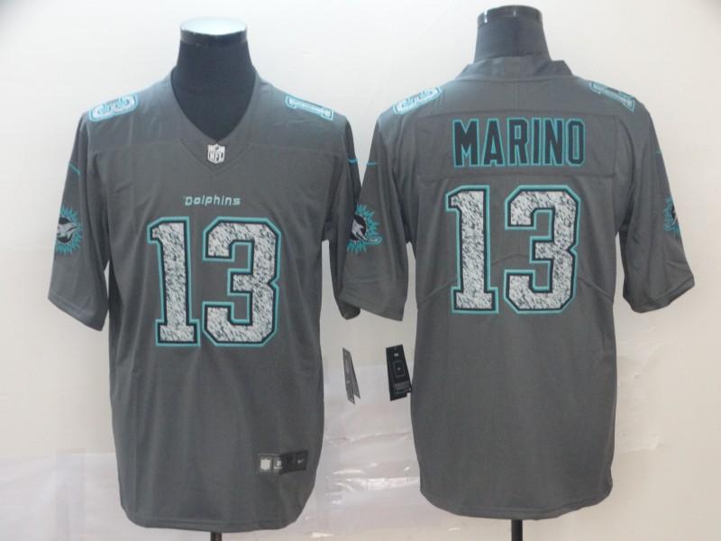 Nike Dolphins 13 Dan Marino Gray Camo Vapor Untouchable Limited Jersey
