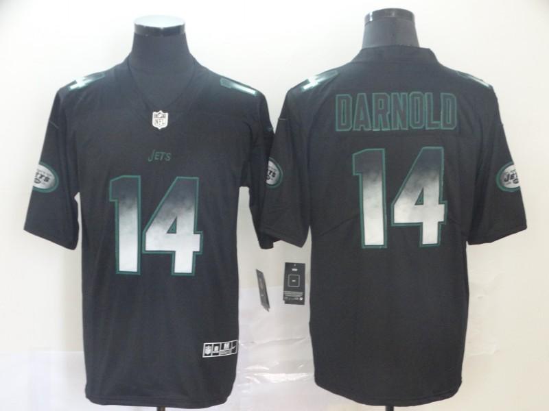 Nike Jets 14 Sam Darnold Black Arch Smoke Vapor Untouchable Limited Jersey