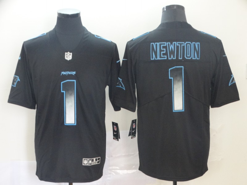 Nike Panthers 1 Cam Newton Black Arch Smoke Vapor Untouchable Limited Jersey