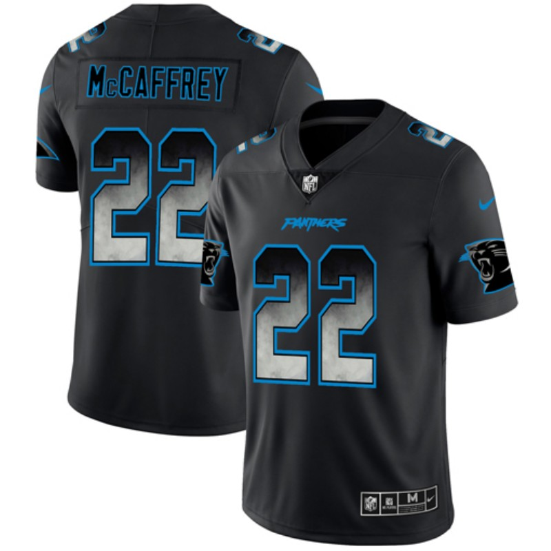 Nike Panthers 22 Christian McCaffrey Black Arch Smoke Vapor Untouchable Limited Jersey