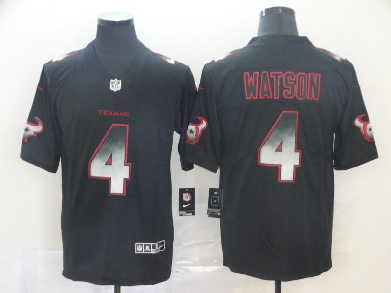 Nike Texans 4 Deshaun Watson Black Arch Smoke Vapor Untouchable Limited Jersey