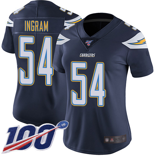 Nike Chargers #54 Melvin Ingram Navy Blue Team Color Women's Stitched NFL 100th Season Vapor Limited Jersey