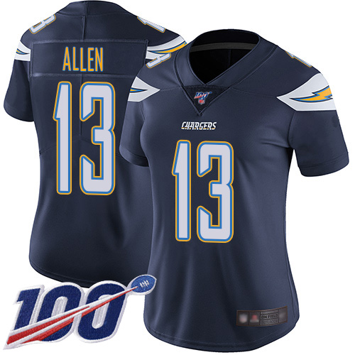 Nike Chargers #13 Keenan Allen Navy Blue Team Color Women's Stitched NFL 100th Season Vapor Limited Jersey