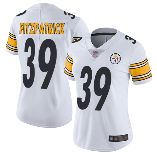 Steelers #39 Minkah Fitzpatrick White Women's Stitched Football Vapor Untouchable Limited Jersey