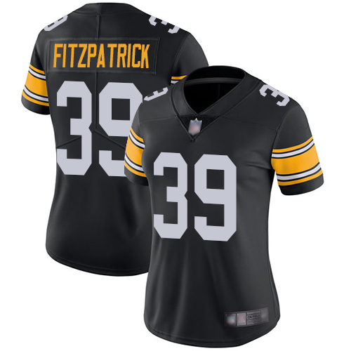 Steelers #39 Minkah Fitzpatrick Black Alternate Women's Stitched Football Vapor Untouchable Limited Jersey
