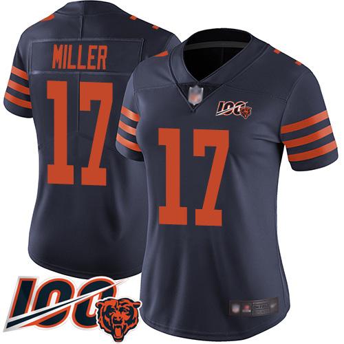 Nike Bears #17 Anthony Miller Navy Blue Alternate Women's Stitched NFL