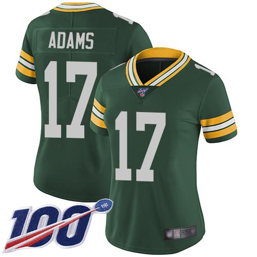 Nike Packers #17 Davante Adams Green Team Color Women's