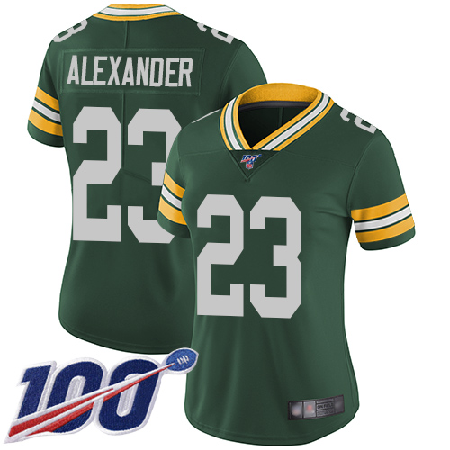 Nike Packers #23 Jaire Alexander Green Team Color Women's Stitched