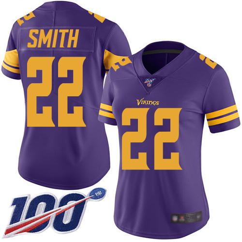 Nike Vikings #22 Harrison Smith Purple Women's Stitched NFL Limited Rush