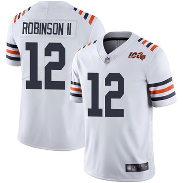Bears #12 Allen Robinson II White Alternate Youth Stitched Football Vapor Untouchable Limited 100th Season Jersey