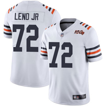 Bears #72 Charles Leno Jr White Alternate Youth Stitched Football Vapor Untouchable Limited 100th Season Jersey