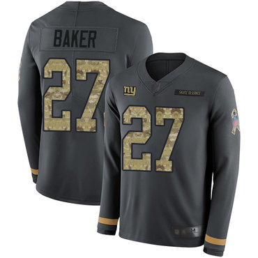 Giants #27 Deandre Baker Anthracite Salute to Service Youth Stitched