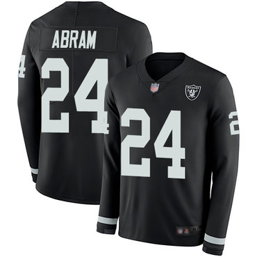 Raiders #24 Johnathan Abram Black Team Color Youth Stitched Football