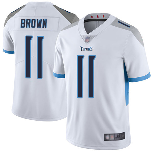 Titans #11 A.J. Brown White Youth Stitched Football Vapor