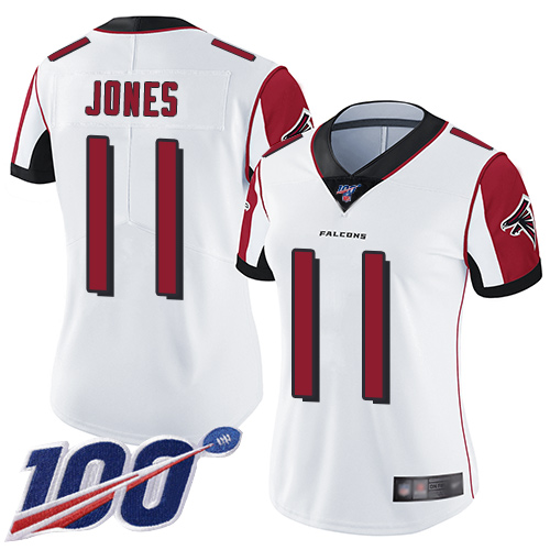 Nike Falcons #11 Julio Jones White Women's Stitched NFL 100th