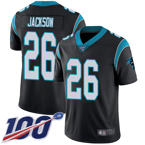 Nike Panthers #26 Donte Jackson Black Team Color Men's Stitched NFL 100th Season Vapor Limited Jersey