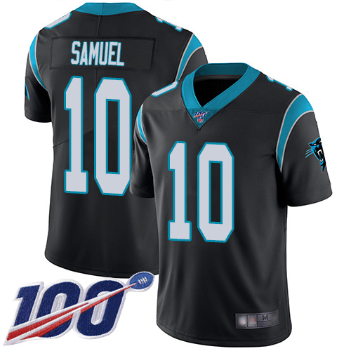 Nike Panthers #10 Curtis Samuel Black Team Color Men's Stitched NFL 100th Season Vapor Limited Jersey