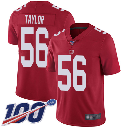 Nike Giants #56 Lawrence Taylor Red Men's Stitched NFL Limited Inverted Legend 100th Season Jersey