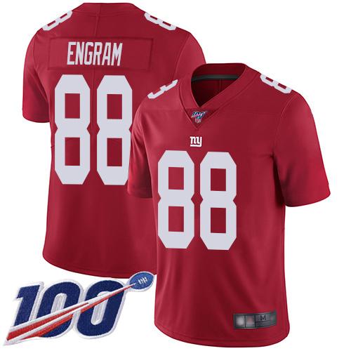 Nike Giants #88 Evan Engram Red Men's Stitched NFL Limited Inverted Legend 100th Season Jersey
