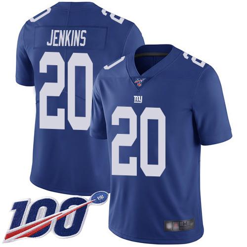 Nike Giants #20 Janoris Jenkins Royal Blue Team Color Men's Stitched NFL 100th Season Vapor Limited Jersey