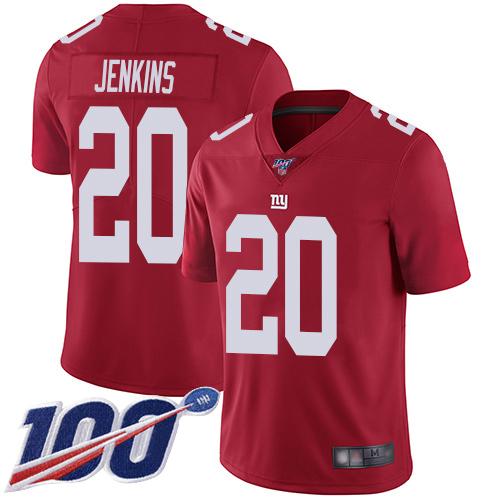 Nike Giants #20 Janoris Jenkins Red Men's Stitched NFL Limited Inverted Legend 100th Season Jersey