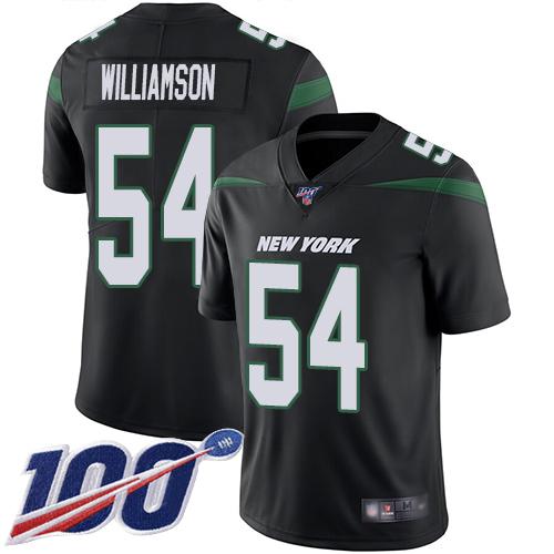 Nike Jets #54 Avery Williamson Black Alternate Men's Stitched NFL 100th Season Vapor Limited Jersey