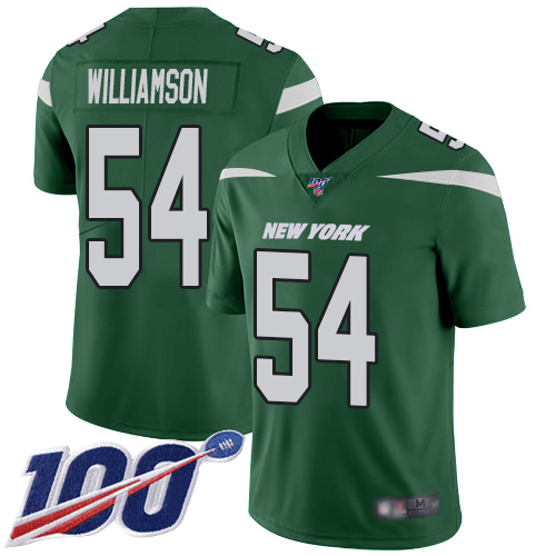 Nike Jets #54 Avery Williamson Green Team Color Men's Stitched NFL 100th Season Vapor Limited Jersey