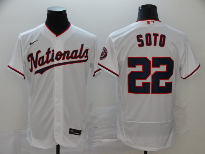 Nationals #22 Juan Soto White Nike 2020 Flexbase Jersey