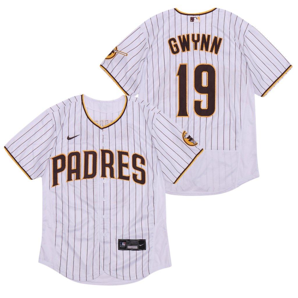 Padres #19 Gwynn White Nike 2020 Flexbase Jersey