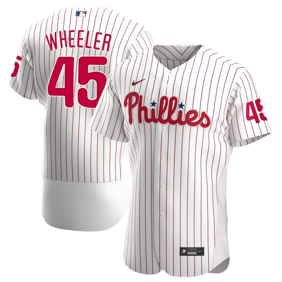 Phillies #45 Zack Wheeler White Nike 2020 Flexbase Jersey
