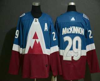 Men's Colorado Avalanche #29 Nathan MacKinnon Blue 2020 Stadium Series Adidas Stitched NHL Jersey