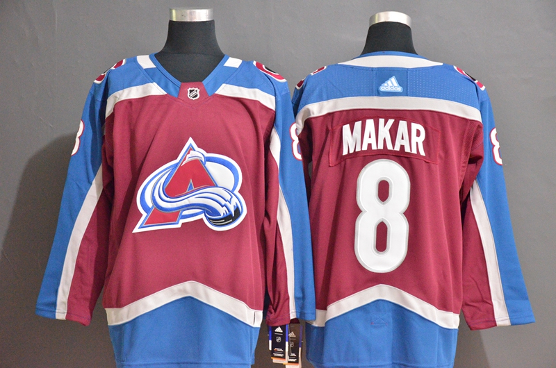 Avalanche #8 Cale Makar Blue Red Adidas Jersey