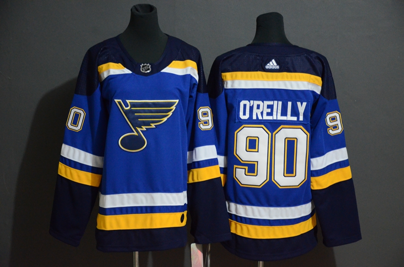 Blues #90 Ryan O'Reilly Blue Adidas Jersey