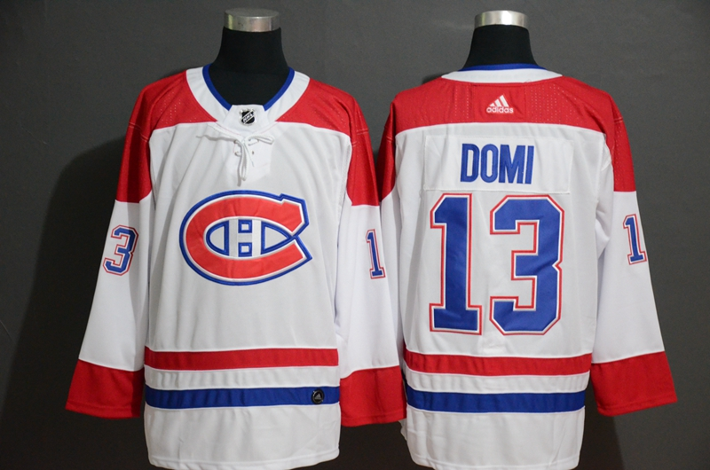 Canadiens #13 Max Domi White Adidas Jersey