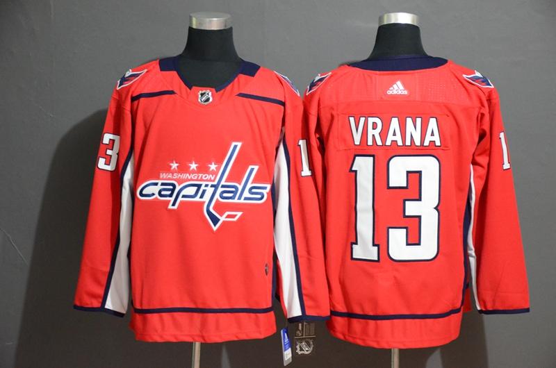 Capitals #13 Jakub Vrana Red Adidas Jersey