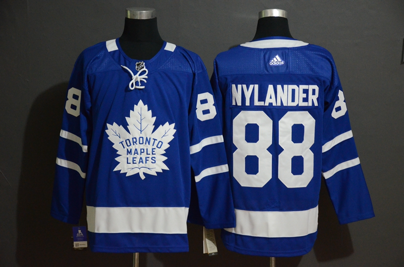 Maple Leafs #88 William Nylander Blue Adidas Jersey