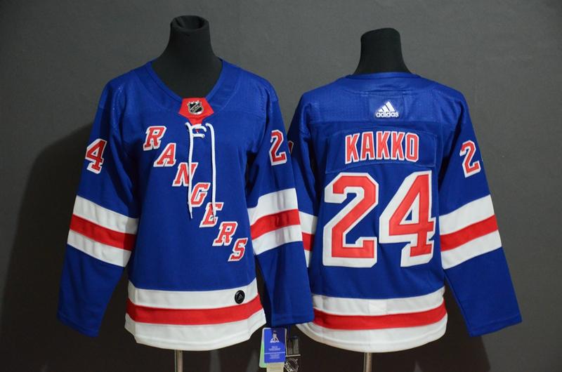 Rangers #24 Kaapo Kakko Blue Adidas Jersey