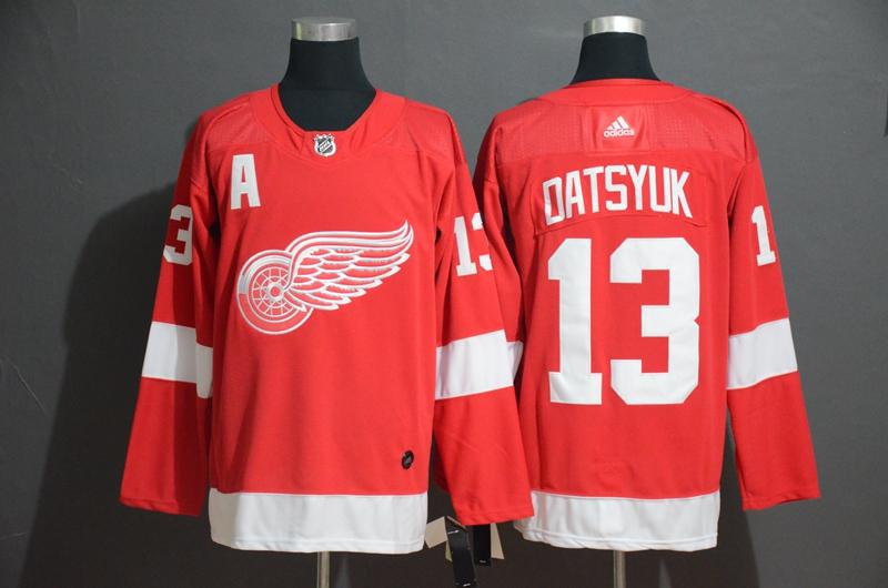 Red Wings #13 Pavel Datsyuk Red Adidas Jersey