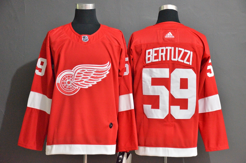 Red Wings #59 Tyler Bertuzzi Red Adidas Jersey